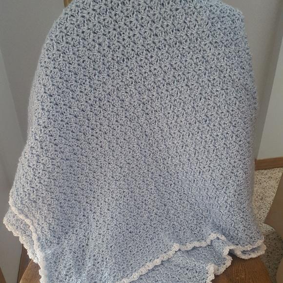 Other - 🌼New Handmade Crochet Blue Baby Blanket 52 x 33